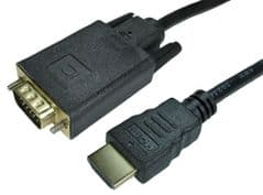 PRO SIGNAL 77HDMIVGCAB011  1M Hdmi To Vga Cable Gold Plated